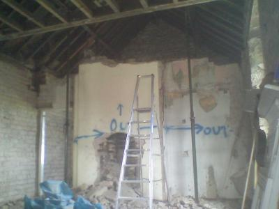 Amble Dental Practice, Removing Two storey Chimney & Breast